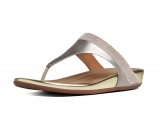 Fitflop Mujer Banda Micro Crystal Toe Post Pale Gold