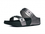 Fitflop Mujer Biker Chic Slide Pewter